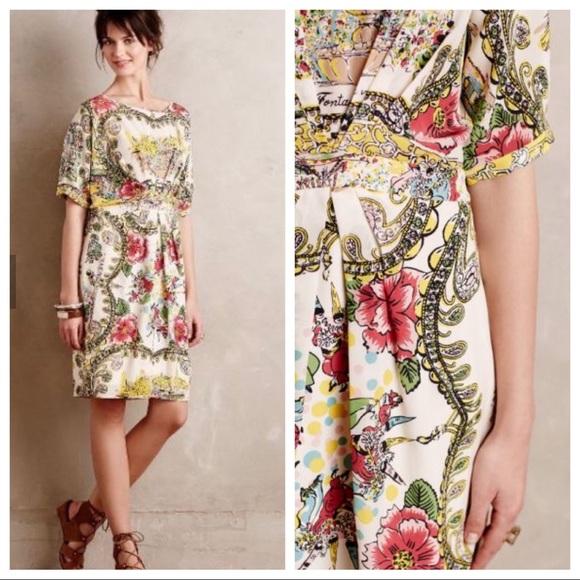 Anthropologie Dresses & Skirts - Anthropologie Colette Dinnigan Scenic Silk dress
